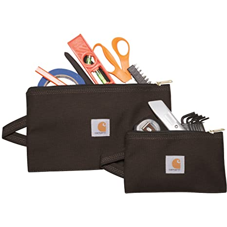 4e2a90bfb Amazon.com: Carhartt Legacy Utility Pouch Set of 2, Black: Sports & Outdoors