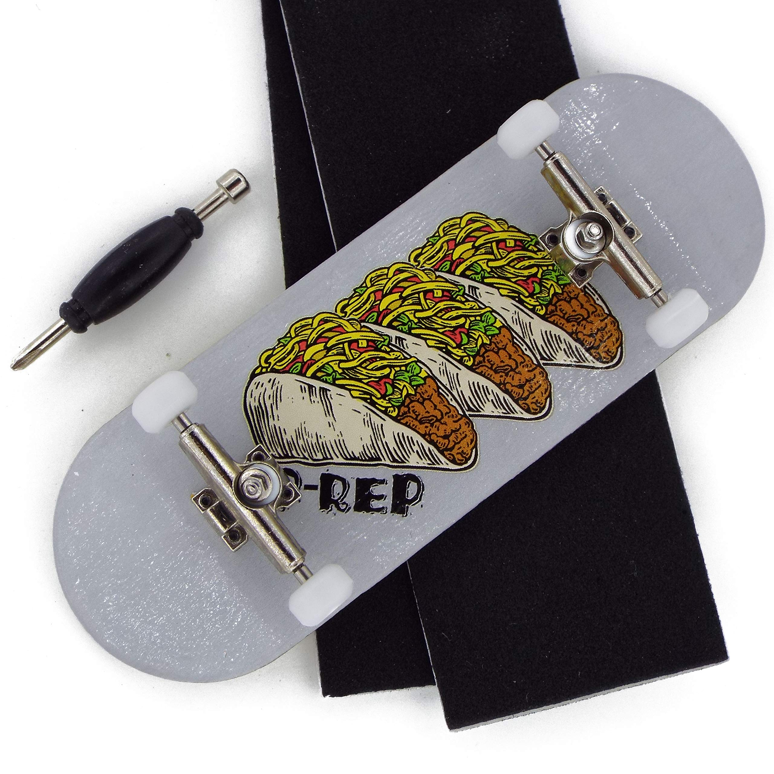 P-REP Tuned Complete Wooden Fingerboard 34mm x 100mm - Tres Tacos by P-REP