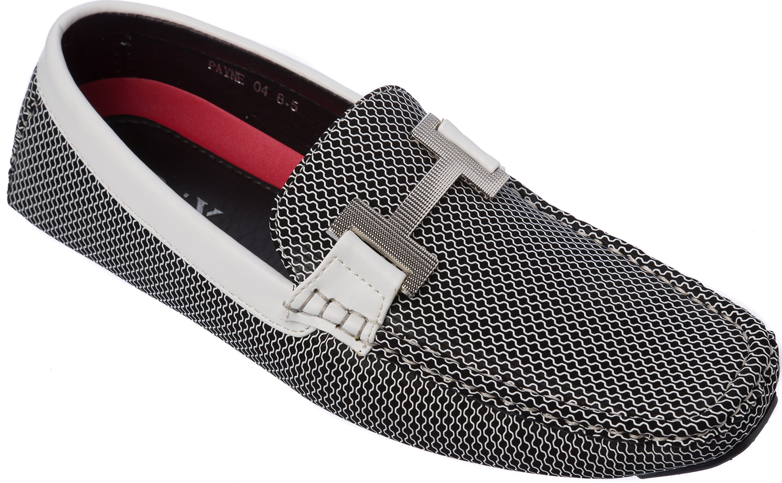 Brix Mens Slip-On Fashion-Loafer White Shoes Size 8.5
