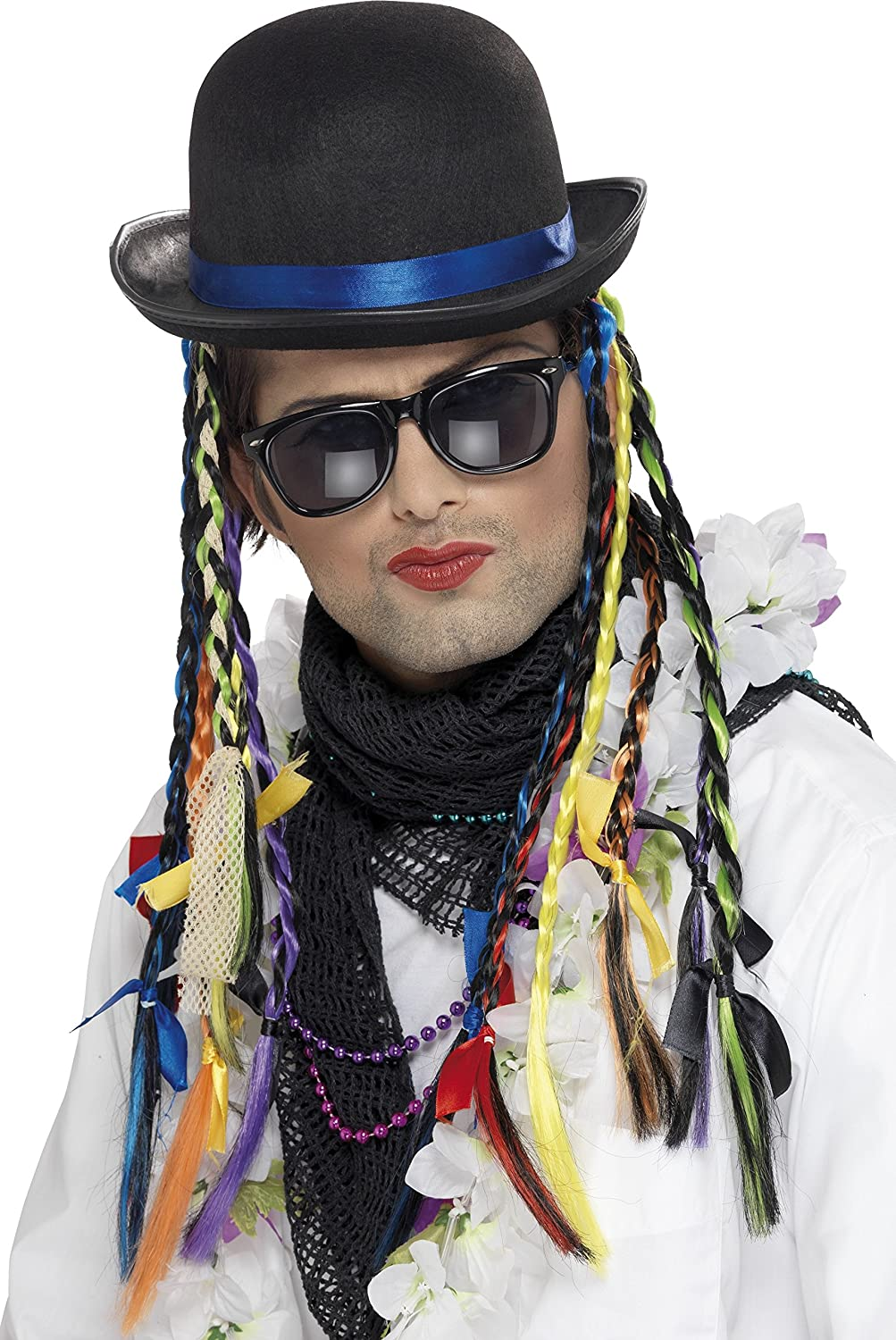 Smiffy's Chameleon Hat. Create an instant Boy George look! Hat includes multi-coloured plaits.