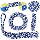 IMPRIE Dog Rope Toy 5 Pack - Tough Dog Toys Set for Puppy and Adult Pet - Play Fetch, Tag of War Dog Rope Toy - Durable Puppy Chew Toys