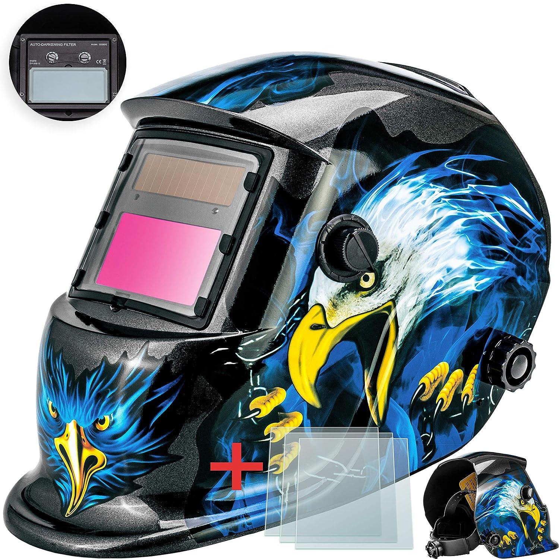 /Masque de soudure solaire de soudage Poste /à souder avec casque de protection Casque de Masko/® Masque de soudure automatique avec rembourrage grand champ de vision pour tous les types de soudure/   contre les /éclabo