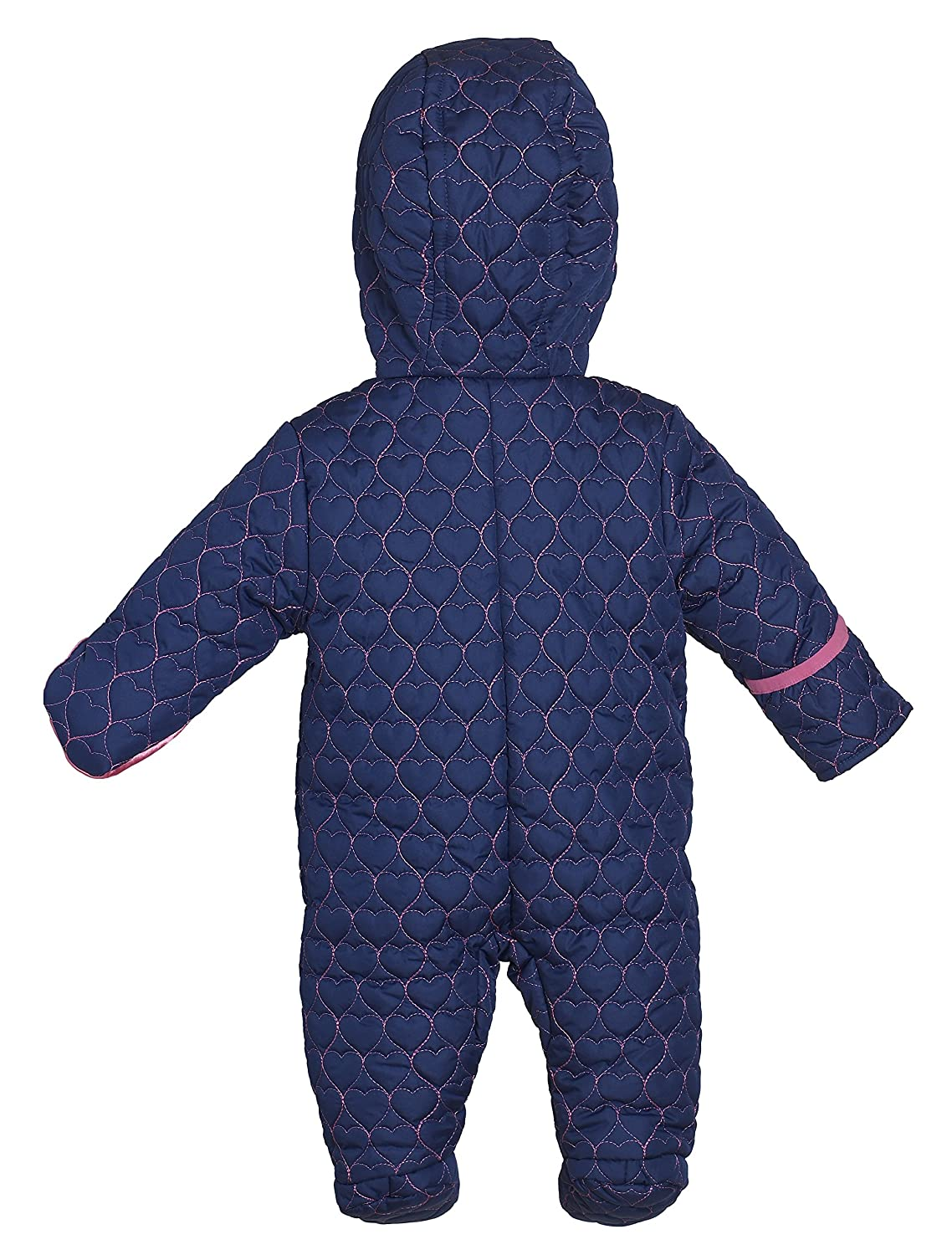 eac785b7 Amazon.com: Wippette Infant Baby Girls Quilted Down Alternative Hooded  Snowsuit Pram Bunting: Clothing