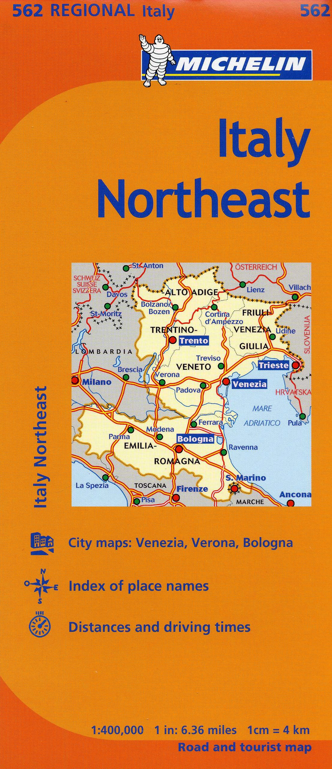 Michelin Italy Northeast Map 562 Maps Regional Michelin