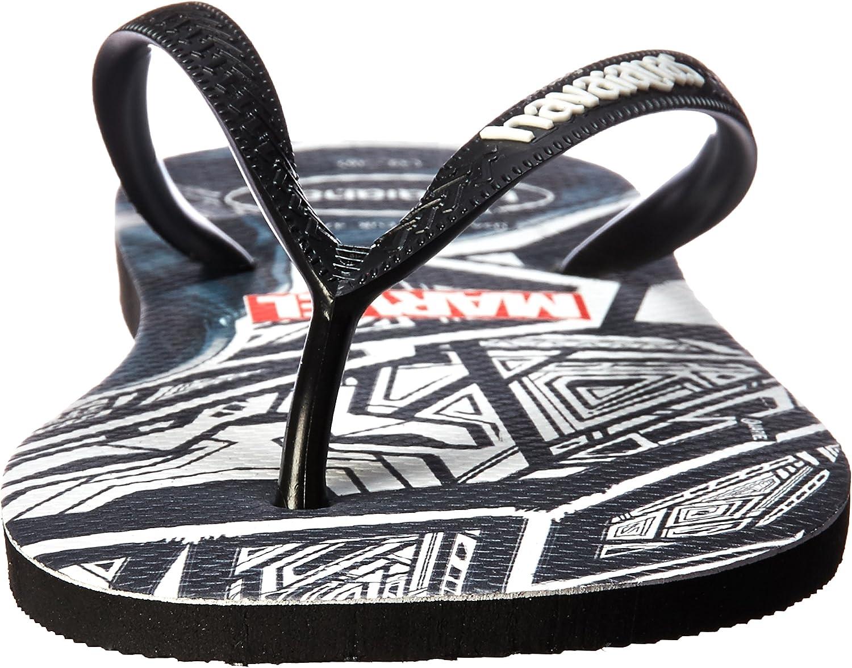 Havaianas Mens Top Marvel Black Panther Flip-Flops