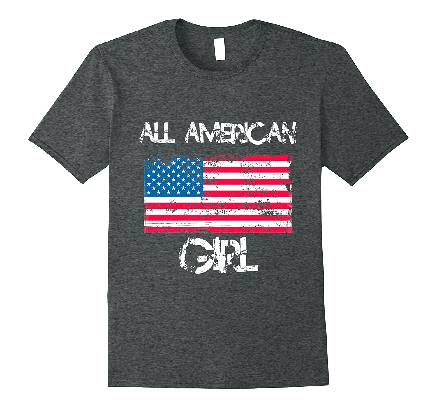 All American Girl T Shirt 4th Of July Patriotic Women
