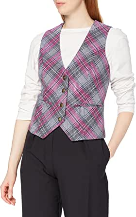 Joe Browns Women's Summer Time Waistcoat Business Suit Vest, A-Multi Check