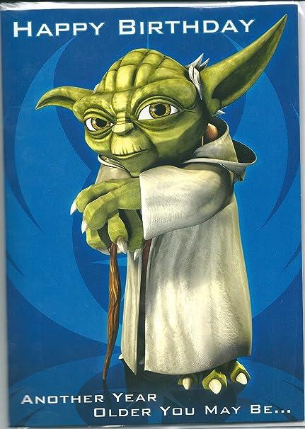 Star Wars Yoda tarjeta del feliz cumpleaños - hablando ...