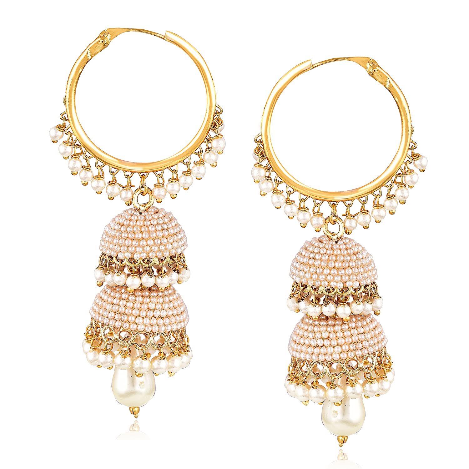 Buy MEENAZ Fashion Jewellery Traditional Gold Plated Pearl