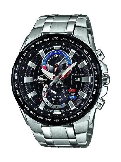1avuef Correa Inoxidable Casio Cronógrafo Con Cuarzo 550d Hombre Reloj Acero Para De En Efr N8nw0vOym