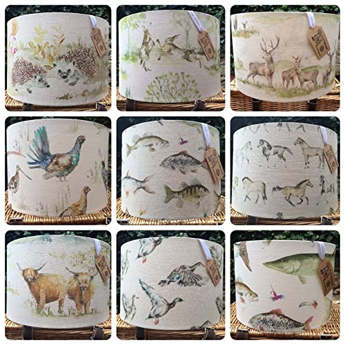 Custom made voyage country lampshade any voyage fabric moorland stag custom made voyage country lampshade any voyage fabric moorland stag highland cattle boxing hares hedgehog fish aloadofball Image collections