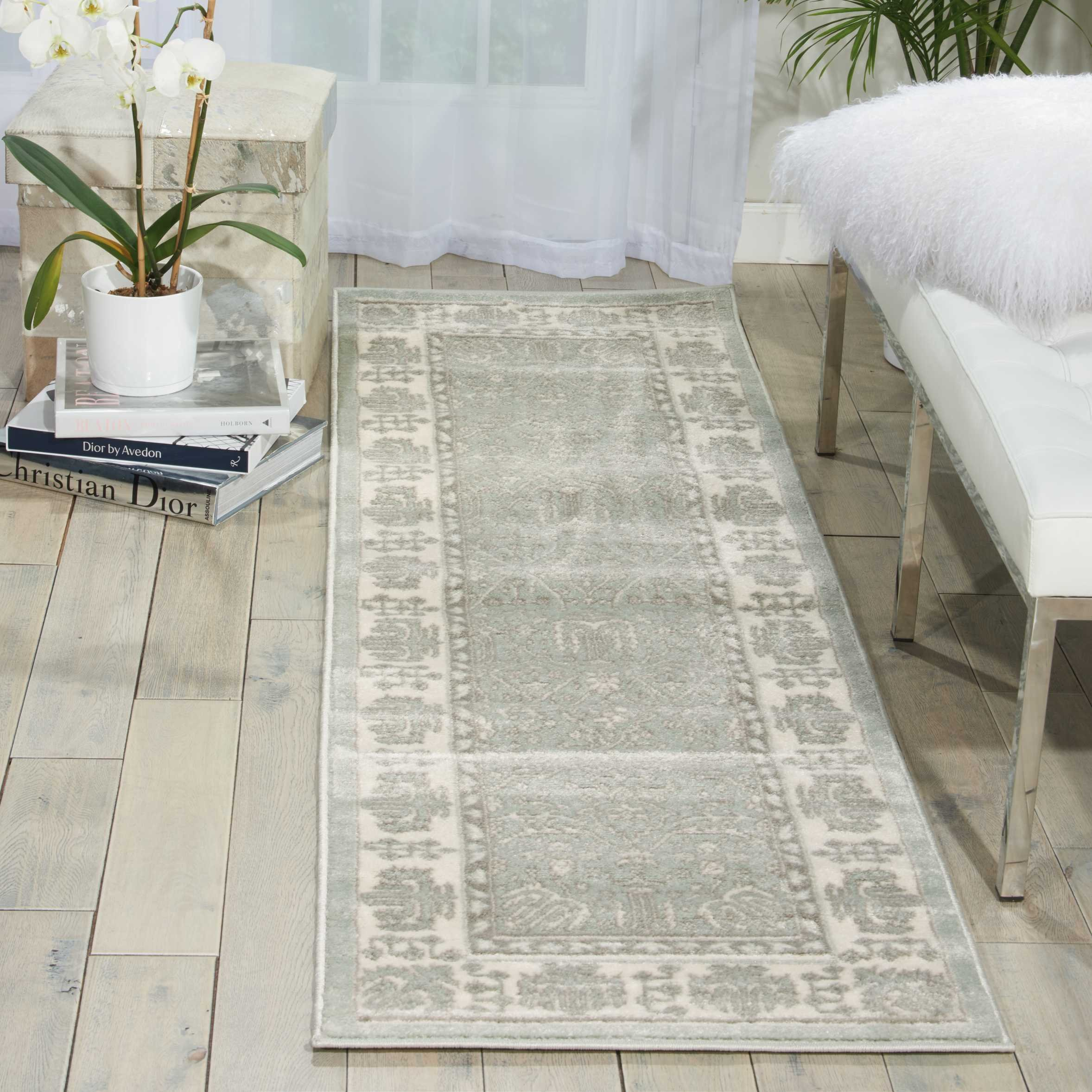 Nourison Euphoria EUP08 Traditional Rustic Vintage Spa Area Rug 2 Feet 2 Inches 7 Feet 6 Inches, 2'2'' x 7'6''