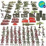 YeahiBaby Militar Soldado de pl/ástico Modelo Toy Army Hombres Figuras Accesorios Kit Decor Play Set 56pcs Verde