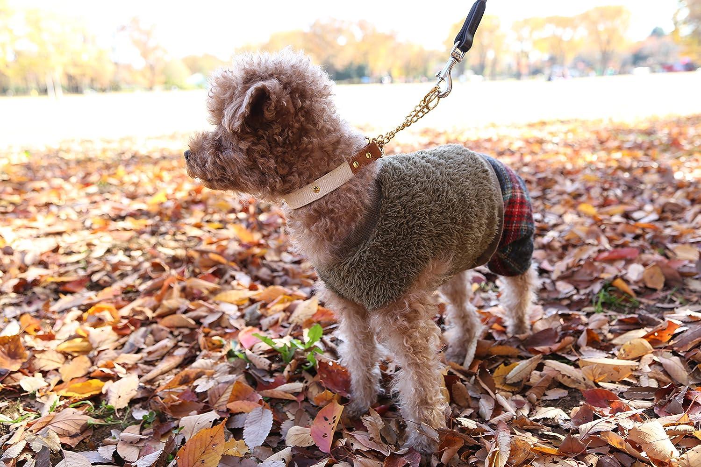 犬服 本皮・革ブランド D.D.hants ワンコの無駄吠え防止にもなる帆布と本革のハーフチョーク(ネイビー・3L)