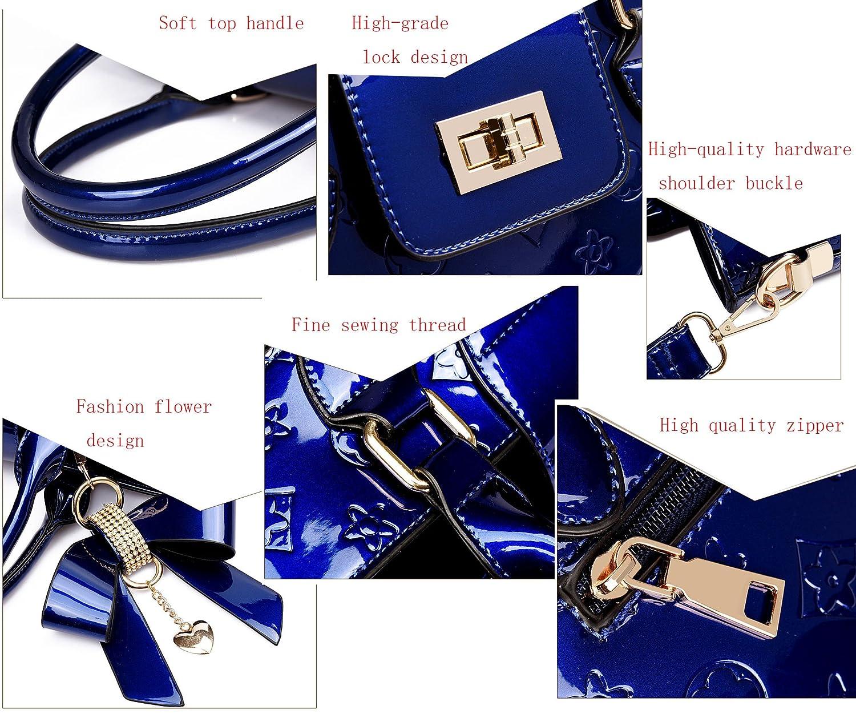 935736050e Oruil Fashion Handbag With Flower Design Handbag Charm And Metal Lock PU  Leather Handbag For Women Top Handle Satchel Handbags (Black)   Amazon.co.uk  ...