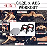 Sasimo® 6 in 1 Different Mode of Home Multi-Function 2019 New Model 6 Pack Abs Roller Wheel, Pushup Bars for Strengthing Bicep ,Lower & Upper Back Muscle, Chest Press,Triceps Muscle, Shoulder/Arm Exercise, Forearm Strength to Core & Abs Whole Body Strength Training Workouts-abs roller for men / abs exercise equipment for home