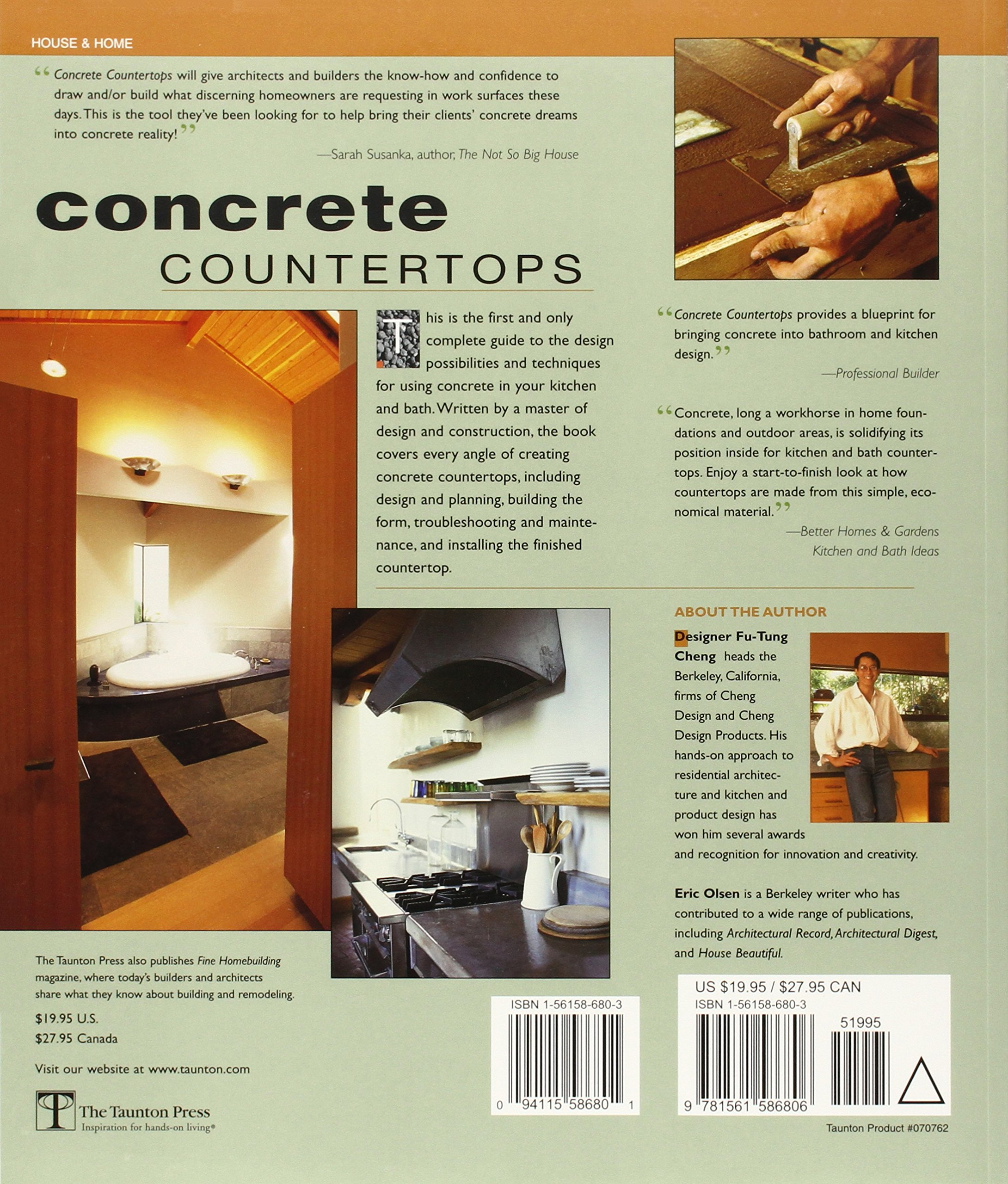 Concrete Countertops: Design, Forms, and Finishes for the New ...
