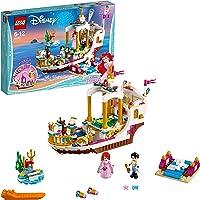 LEGO 41153 Disney Princess Ariel Royal Celebration Boat Toy, Prince Eric and Ariel figures, Little Mermaid Building Set for Kids
