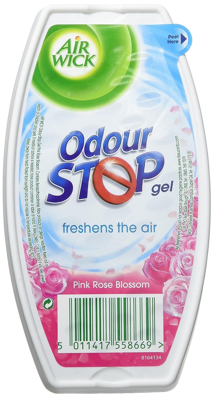 Air Wick Air Freshener, Odour Stop Gel, Pink Rose Blossom, 150 g, Pack of 6 Reckitt Benckiser