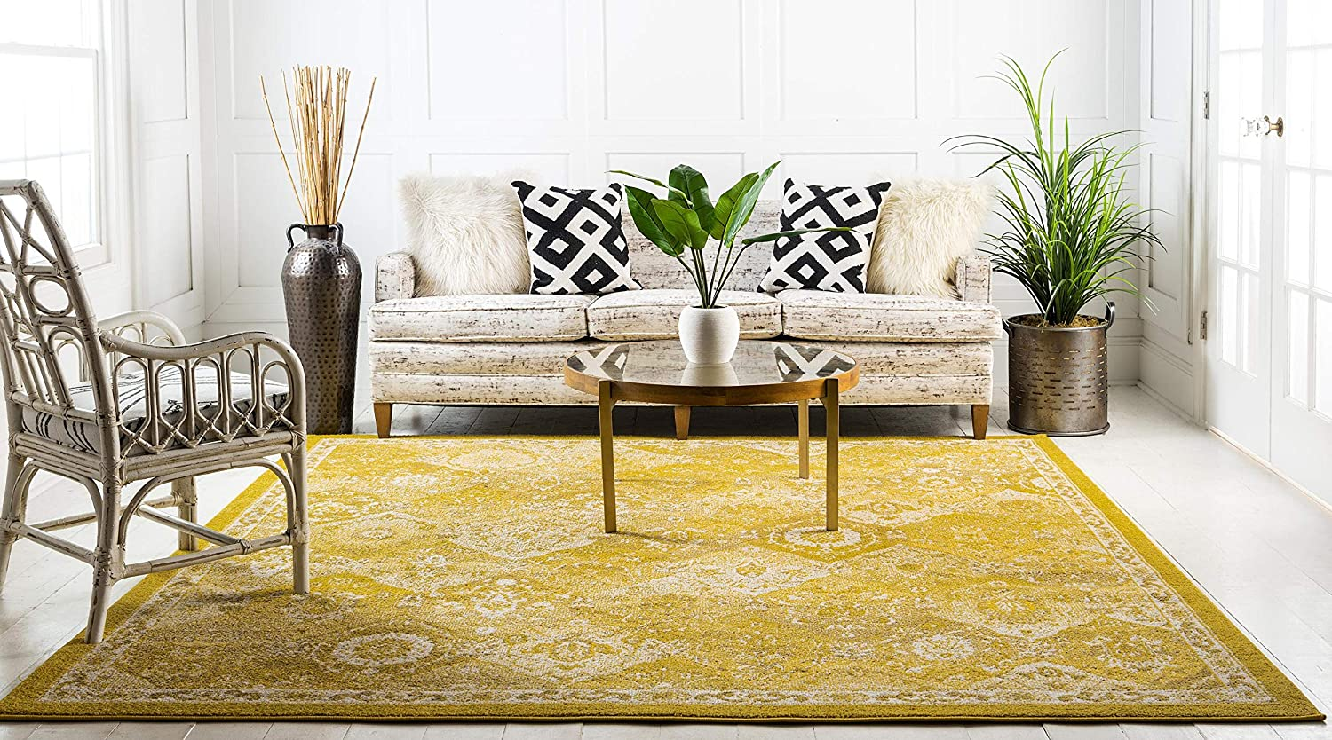 3 x 5 Unique Loom Penrose Collection Traditional Vintage Distressed Multi Area Rug