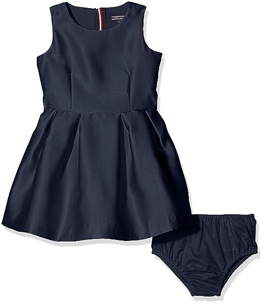Tommy Hilfiger C Satin Dress Slvls, Vestido para Niñas: Amazon.es: Ropa y accesorios