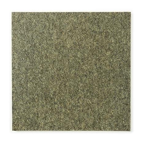 Cortes de fieltro (industrial), gris mezclado, densidad media, 30 x 30