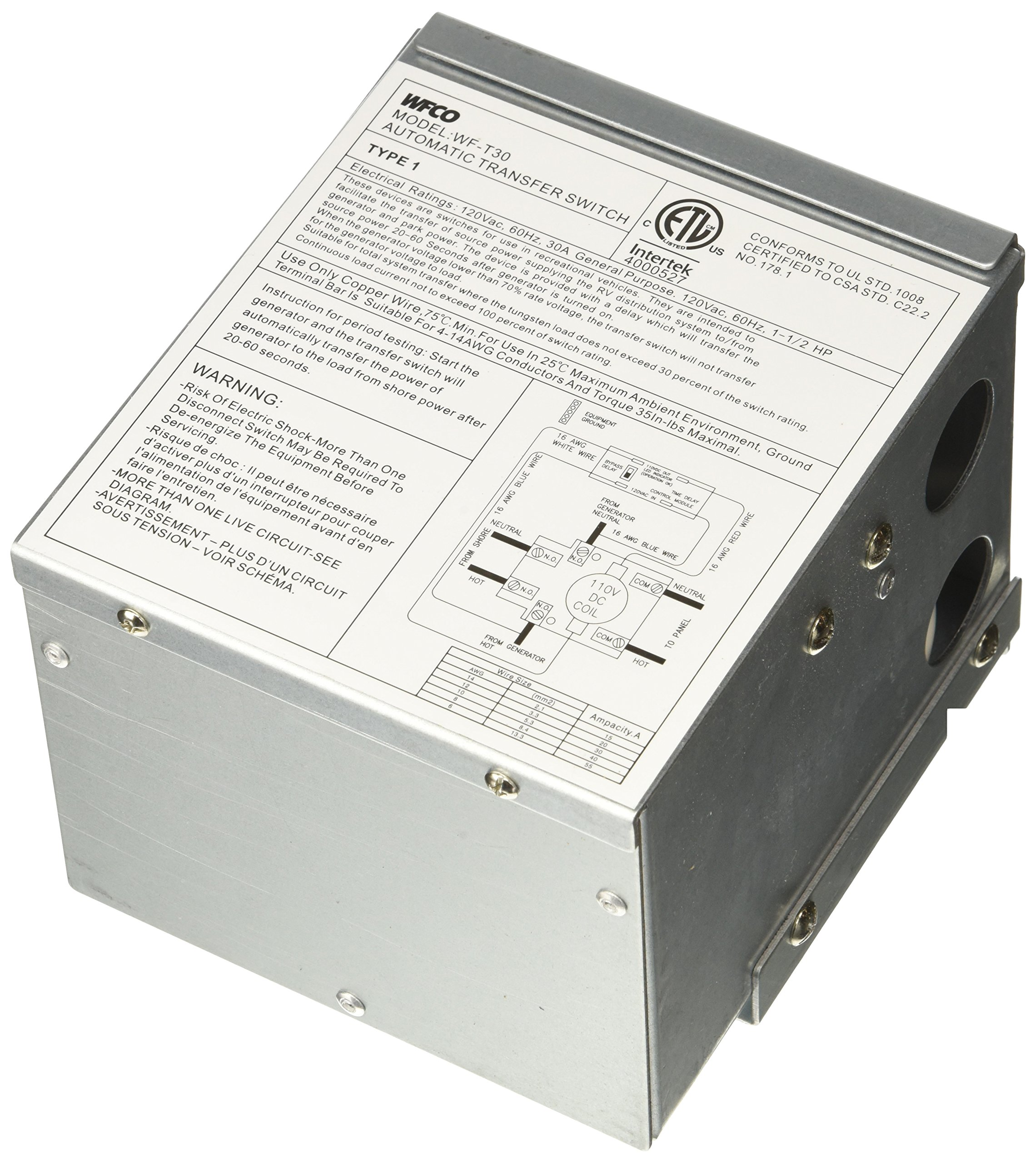 WFCO T30 30 Amp Transfer Switch by WFCO