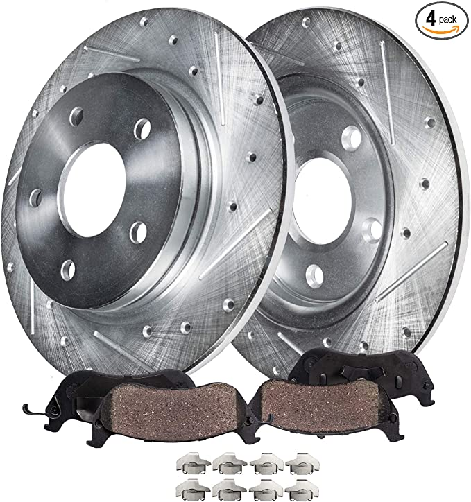 See Desc. Max Performance Ceramic Brake Pads F 2008 2009 Cadillac DTS