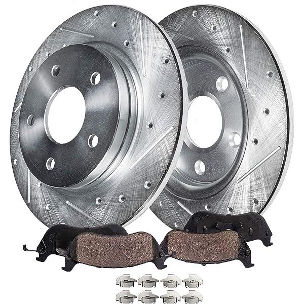 OE Replacement 2014 Toyota Rav 4 296mm Dia F Rotor Rotors Ceramic Pads F