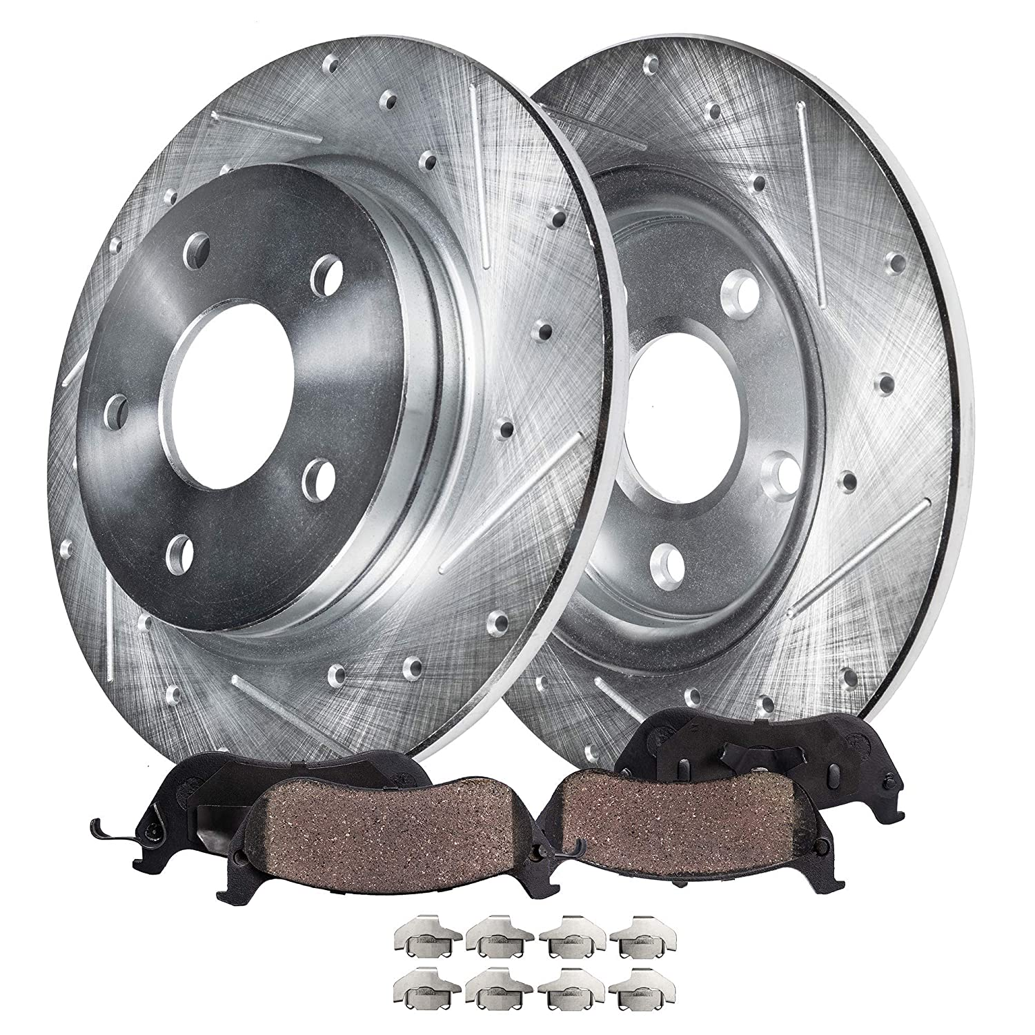 Front PowerSport Replacement Brake Rotors Disc and Ceramic Pads Avalon,Camry