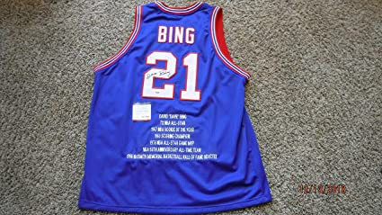 Image Unavailable. Image not available for. Color  DAVE BING (Stat.) Signed  Detroit Pistons Jersey ... de51395d8