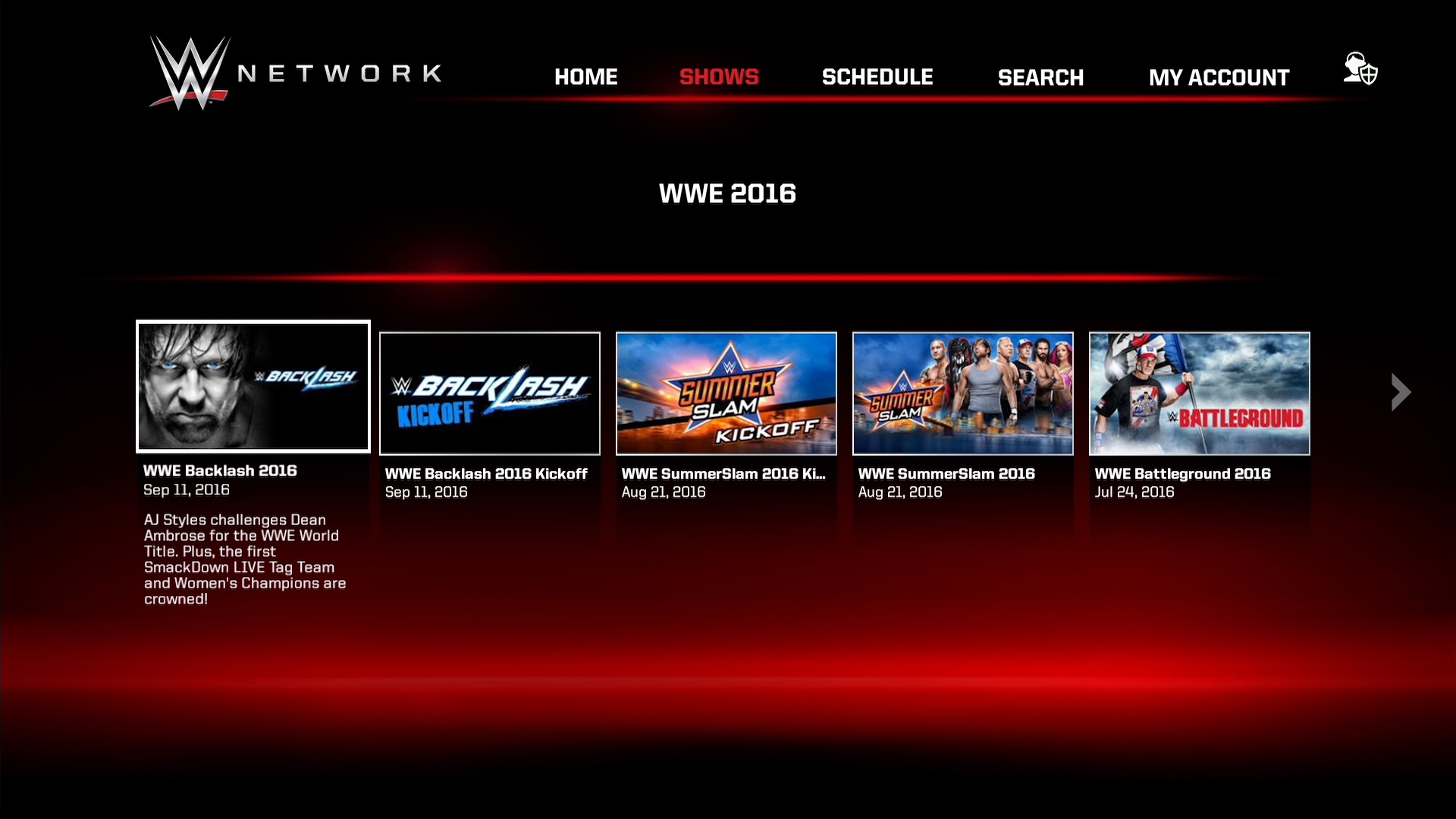 Amazon WWE Network Appstore for Android