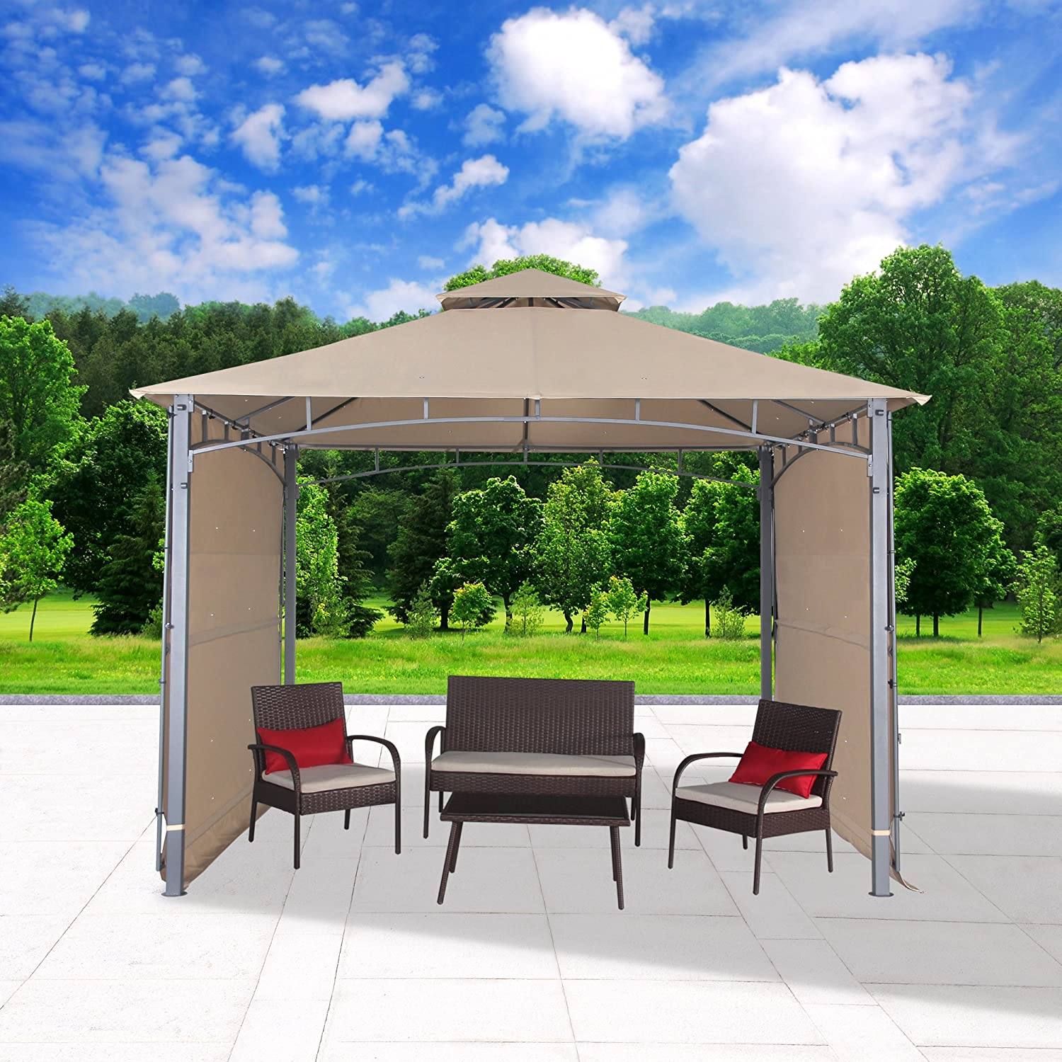 Amazon Cloud Mountain Patio Gazebo With Two Side Sunshade