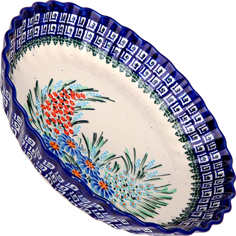 Polish Pottery Ceramika Boleslawiec-1212//169 9-7//8-Inch Pie Baker Small
