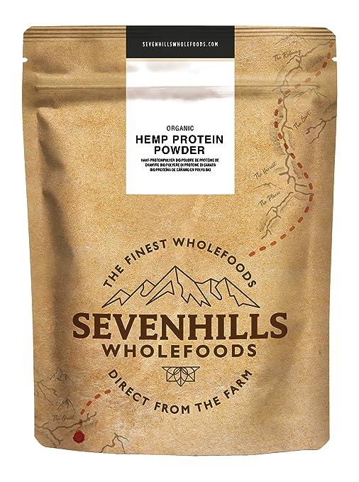 Sevenhills Wholefoods Proteína De Cáñamo Cruda En Polvo Orgánico 500g