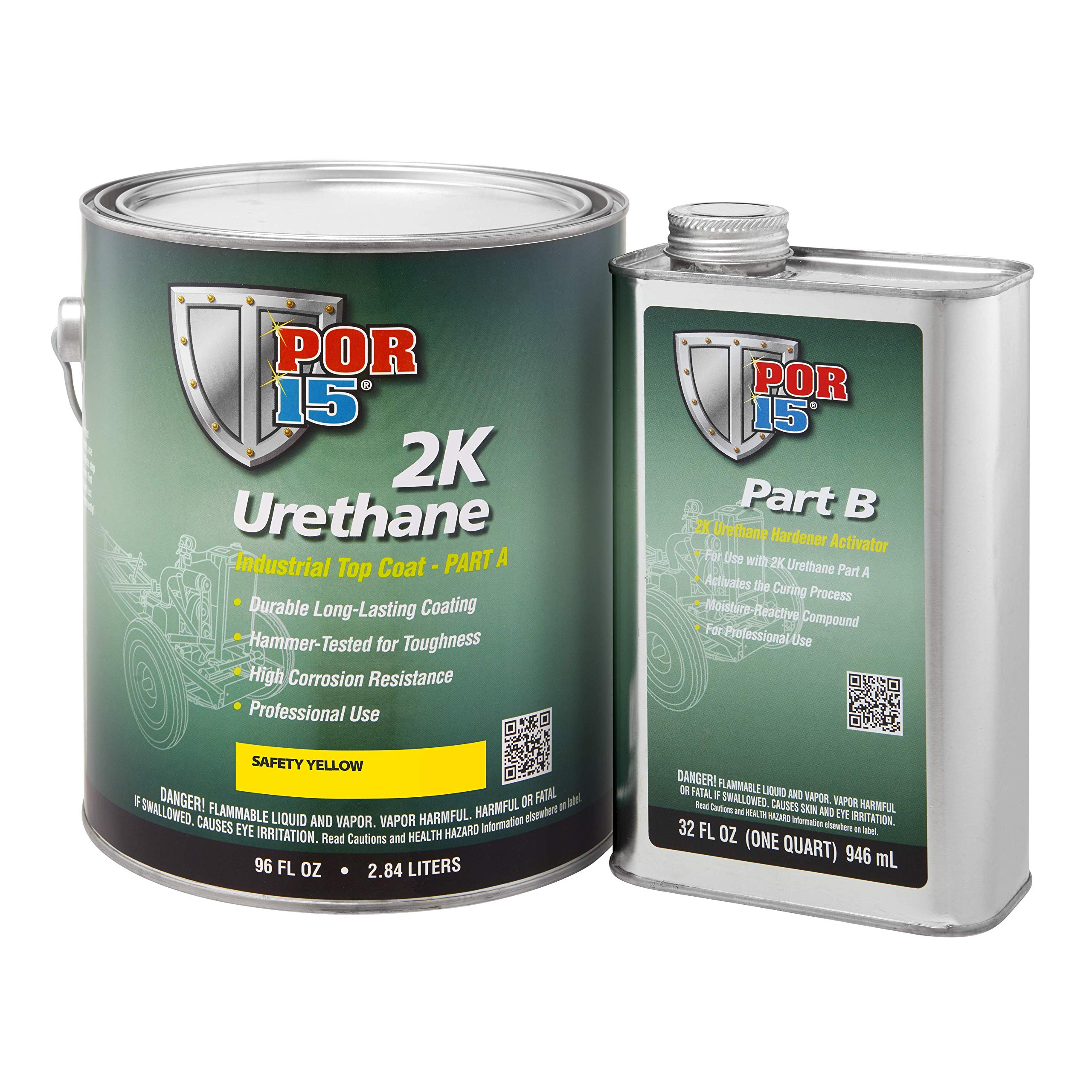 POR-15 43281 2K Urethane Safety Yellow Industrial Paint, 128. Fluid_Ounces