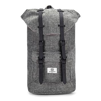 9ed6d08e389d SEVENTEEN LONDON – Modern Unisex Outdoor Waterproof Hiking Backpack with  Classic Belt Detailing – Fits Laptop