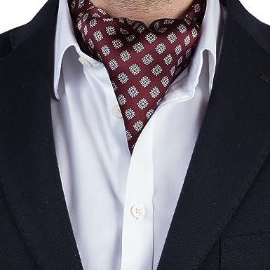 Silk Men's Cravat Ascot Luxury Tie/Scarf - Paisley/Jacquard…: Amazon.co.uk:  Clothing