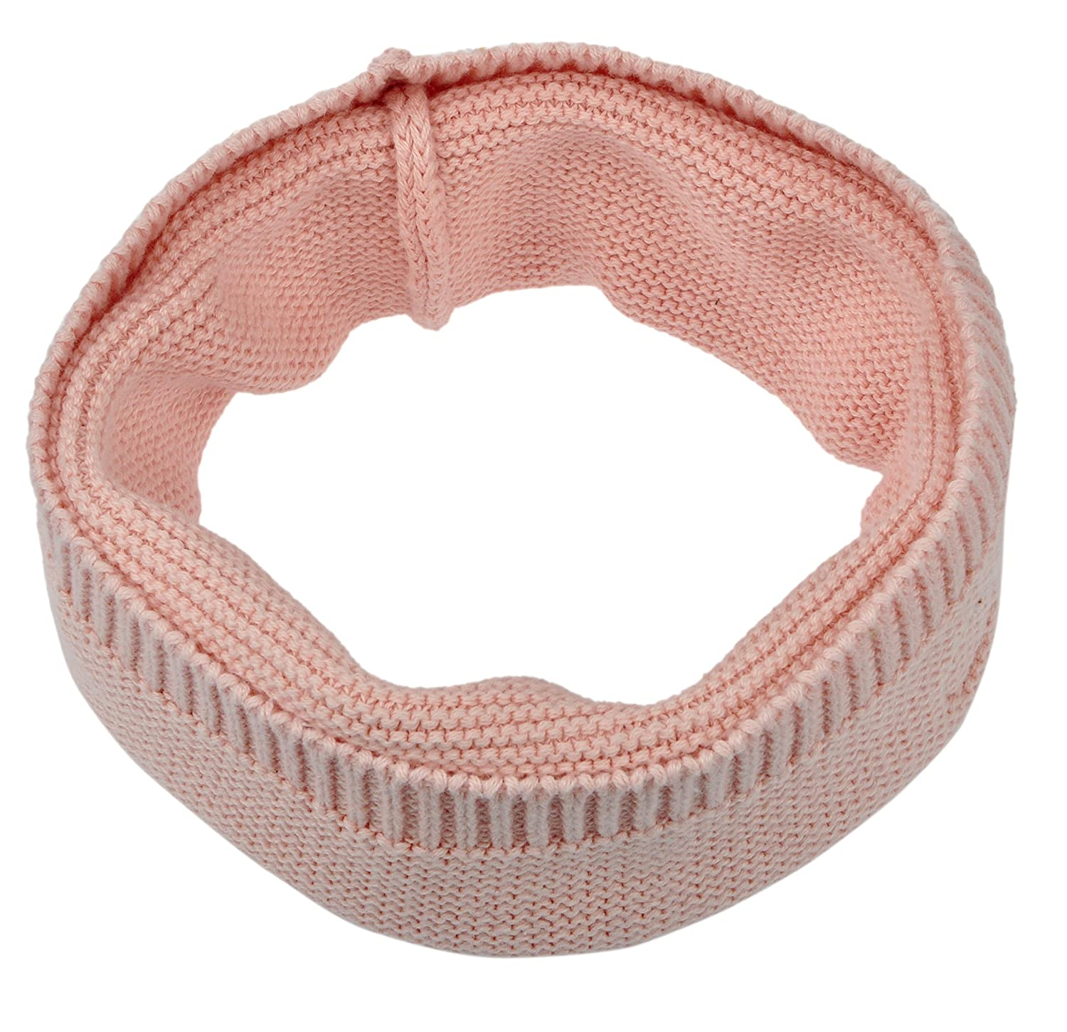Joyinglife Baby Kid Circle Scarf Warm Soft Pure-Color Knit Neck Warmer Pink jtnew1-035-Pink