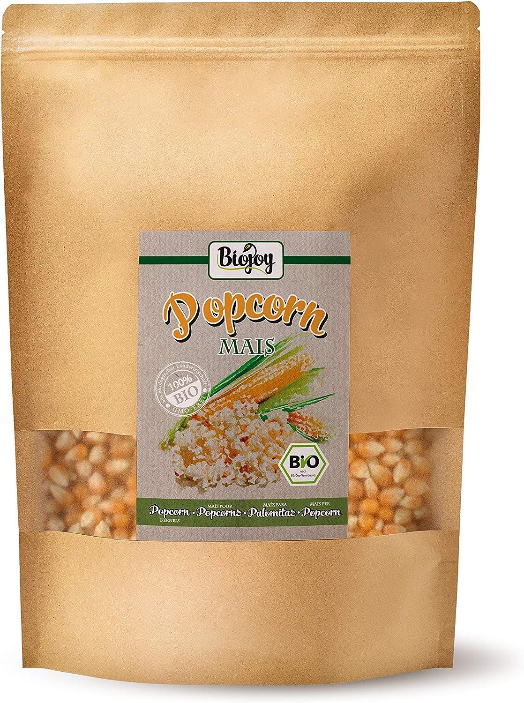 Biojoy Maiz para palomitas orgánico, sin OGM (1 kg): Amazon.es ...