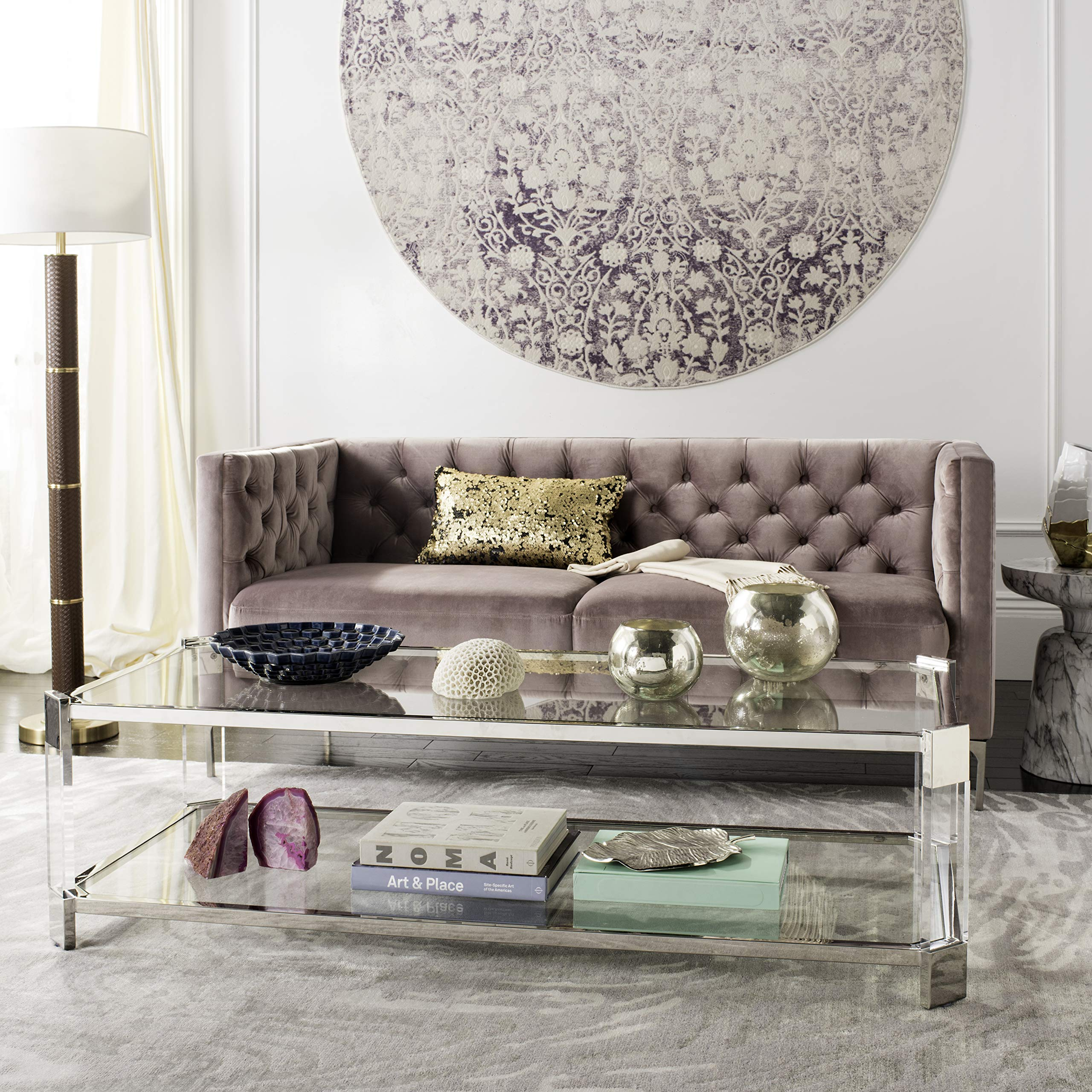 Safavieh Home Collection Gianna Glass Coffee Table, Clear by Safavieh
