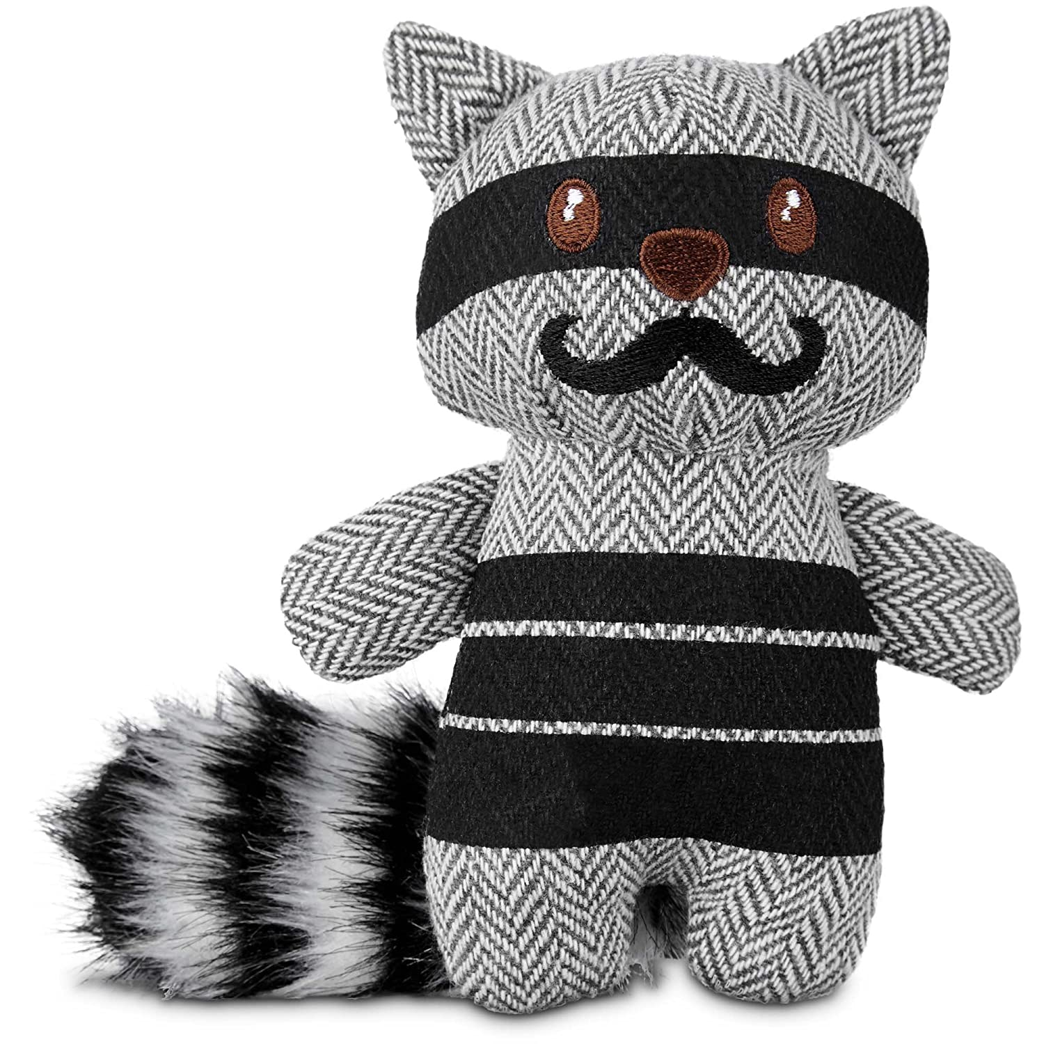 Small Leaps & Bounds Wildlife Plush and Raccoon Dog Toy, 6 , Small