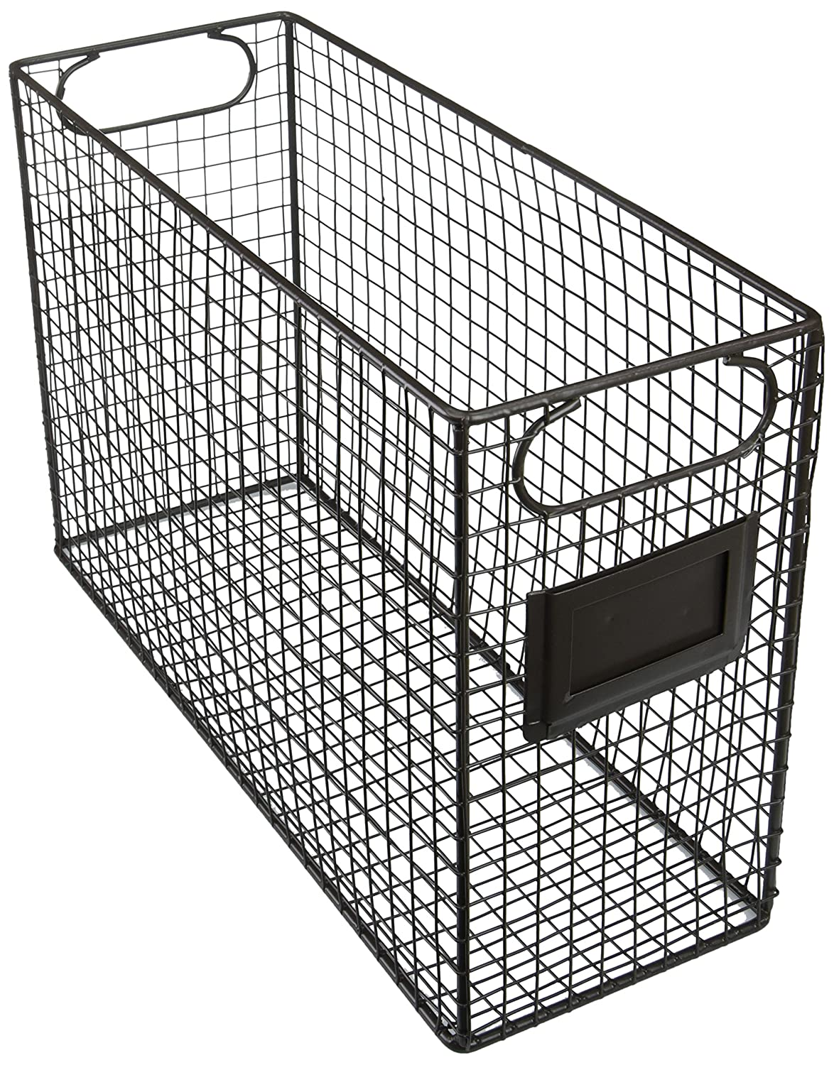 Amazon.com : Mesh Wire Brown Metal Document Storage Container ...
