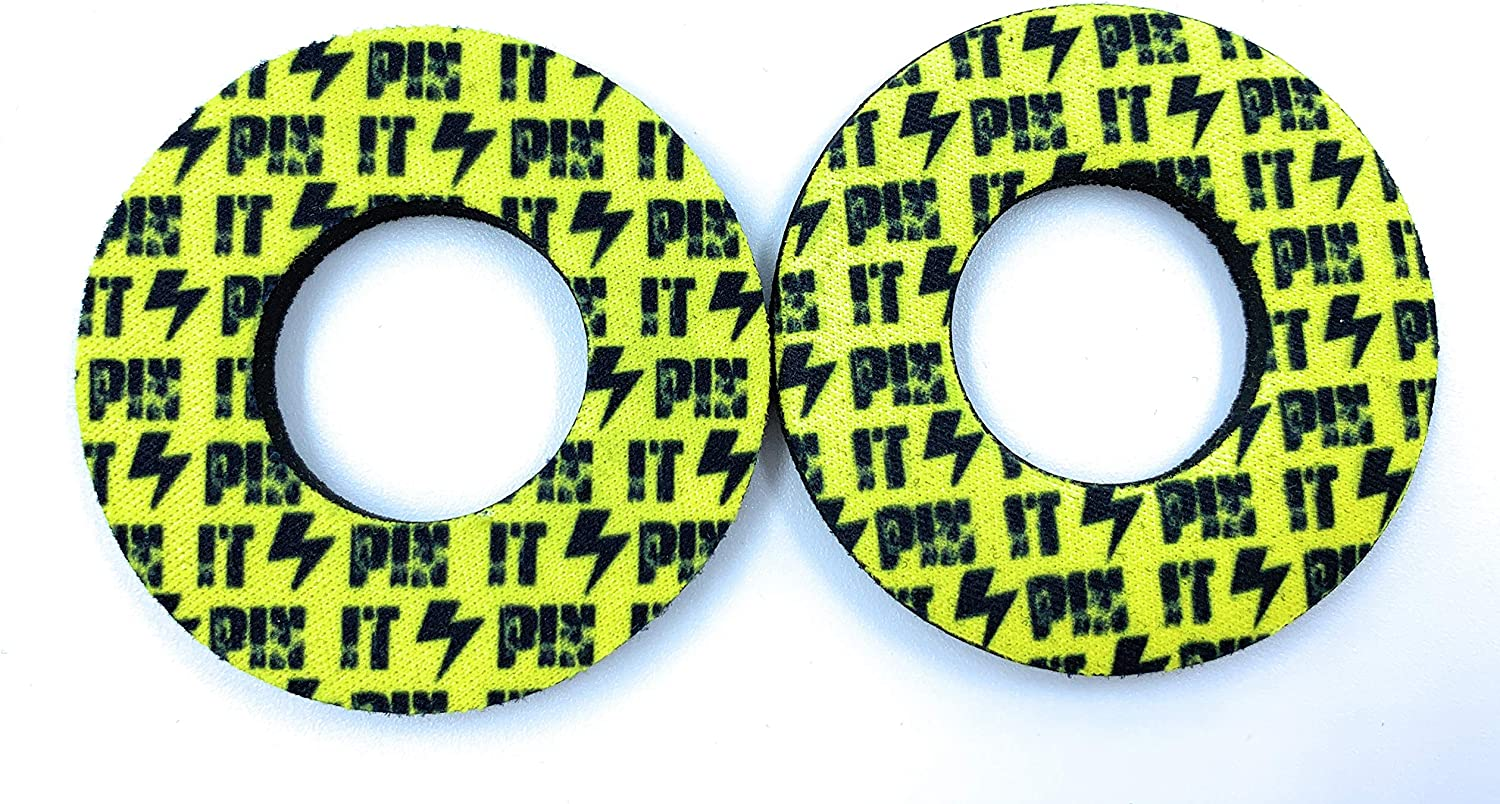 Yellow PIN IT Grip Donuts MX and ATV Donut Grips