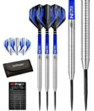 Red Dragon Razor Edge Original Tungsten Darts Set (Steel Dartpfeile) mit Flights, Schäfte, Brieftasche, Checkout Card