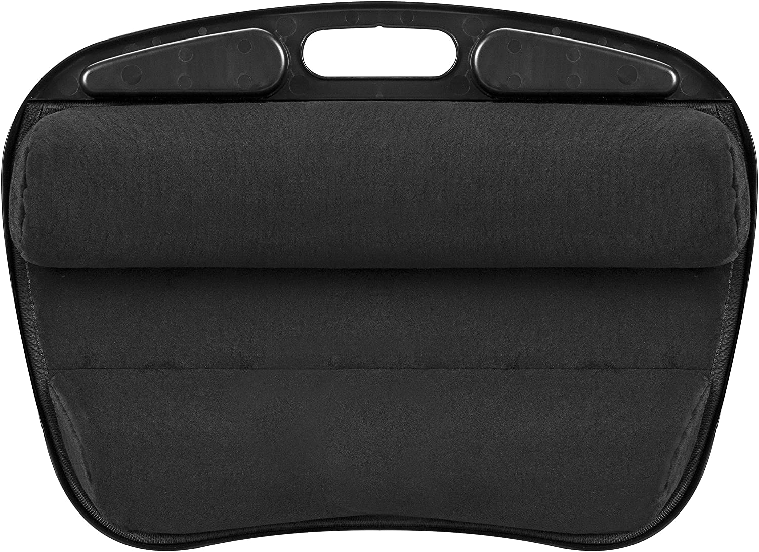 LapGear Mydesk Lap Desk with Device Ledge and Phone Holder - Black - Fits Up to 15.6 Inch Laptops - Style No. 44448: Computers & Accessories