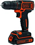 Black+Decker BDCDC18-XE18V Lithium-ion Drill Driver + 200mA charger + 1 battery, 200mA Charger, Black/Orange