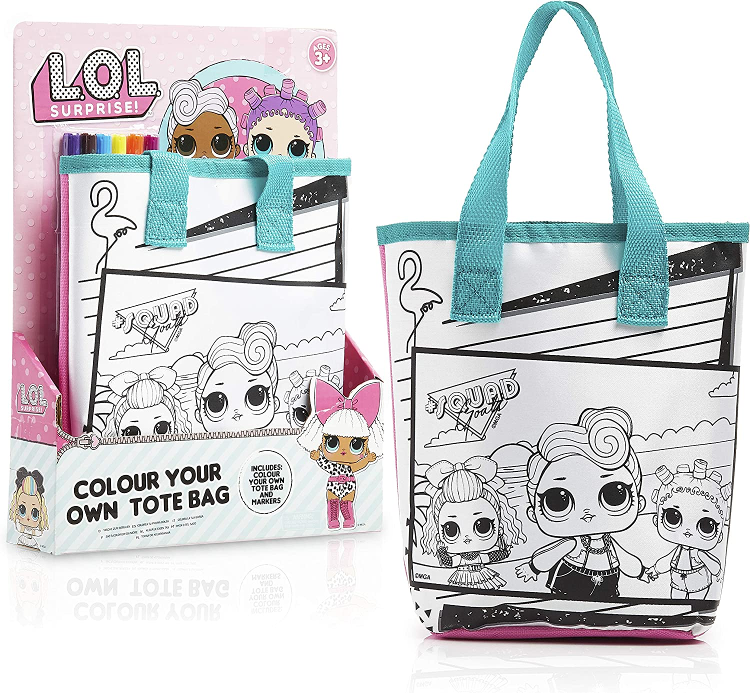 Brand New LOL Surprise Large Reusable Shopper Bag Home and Leisure Assorted