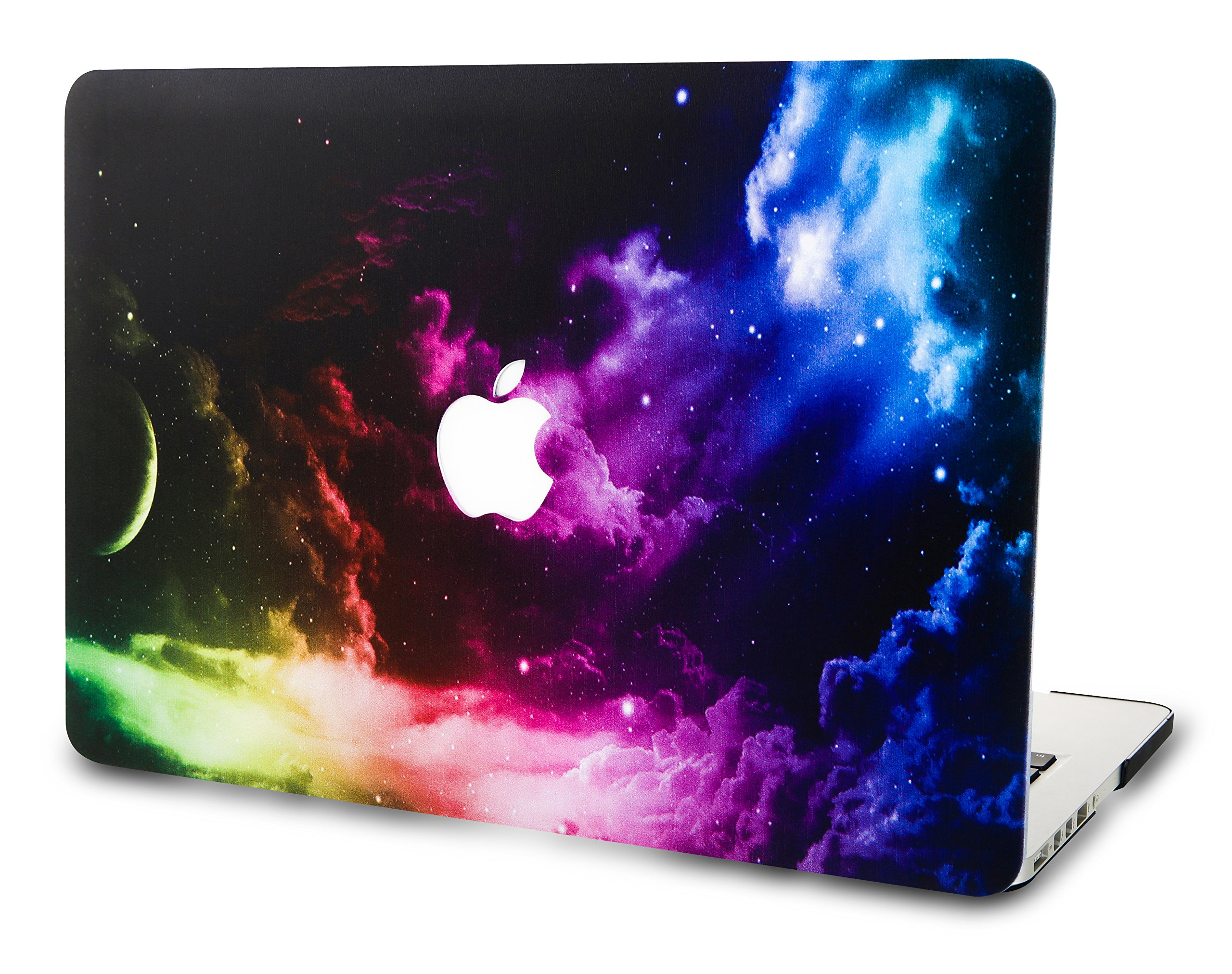 KEC Laptop Case for MacBook Pro 15'' (2018/2017/2016) Plastic Hard Shell Cover A1990/A1707 Touch Bar Space Galaxy (Color Space)