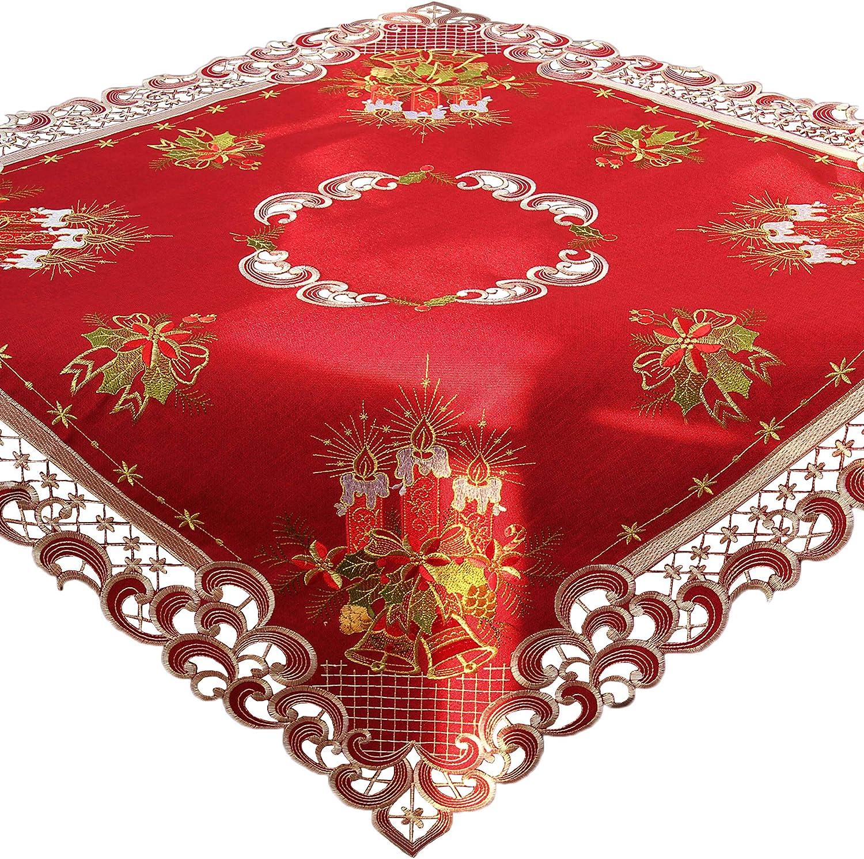 in poliestere Poliestere colore rosso 9 x 15 inches diverse dimensioni disponibili Quinnyshop Runner da tavola con campanellini natalizi Rosso